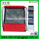 Nylon Mesh Drawstring backpack bag /Mesh Pocket Drawcord Bag