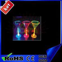 For Pub Using cups unique shape Flashing Martini Glass