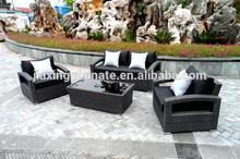 Rattan outdoor furniture 4pcs confortable patio conversation set