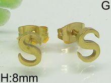 wonderful earring gold letter earrings