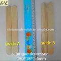 desechable de alta calidad de madera de encargo de la lengua médica espátula depresor de uso