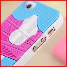 jordan sneaker style silicone phone case for iphone 4