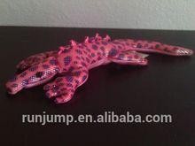 sand-filled plush toy,Ganz Rainforest Animals, pink metallic lizard