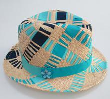 paper weaving fashion children straw hat