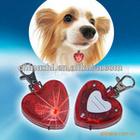 2014 love shape pet dog LED lights
