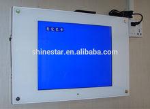 "15"" LCD digital wifi download loop totem video display with software"