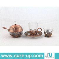 Hot sale arabic tea set, brass copper tea set, mini tea set(OSUF)