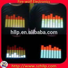 Korea EL Light up Equalizer T shirt China manufacturer