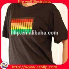 Korea EL Light-up Graphic Equalizer T shirt China manufacturer
