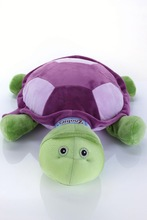 Carrefour supplier own design stuffed animals from china purple shell stuffed turtle toy