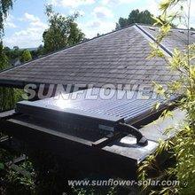 Solar flat vacuum heat pipe collector