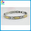 Stainless steel orange silver tone women's love link bracelets energy stainless steel jewelry