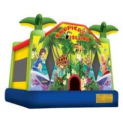 2014 Summer hot sale cheap tropical island bounce house