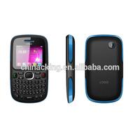 Popular Qwerty Keyboard 2.0 INCH QVGA TV Quad Band Dual SM Card GPRS WAP Unlocked Cell Phone Blu