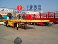 Eixos 2/3 eixos semi reboque flatbed, 20ft/40ft container plataforma semi reboque, caminhões para venda na europa