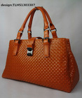 TLHS1303307 New Fashion Elegant women Genuine Leather woven bag