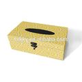 Blanc sur fond jaune motif géométrique décoratifs. tissus boîte de papier pour la vente