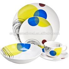 20pcs coupe shape decal porcelain dinner set