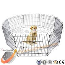 Galvanized Metal Pet Playpen Dog Exercise Pens Fence Eight Mesh Panel