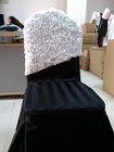 Three-dimensional flower chair cover hood