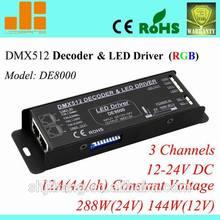 DMX512 Decoder RGB Dimmer LED Driver DE8000