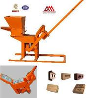 QMR2-40 clay interlocking pavers machine mud blocks machinery manual press machine