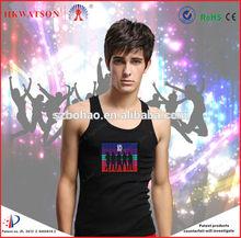 2014 new led t shirt/custom led light t shirt made in china