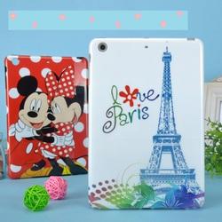 cartoon painting smart case cover for apple ipad mini