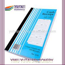 75 leaf,duplicate cash receipt with carbon