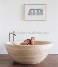 White travertine bathtubs round prices