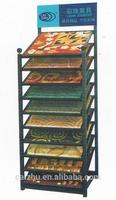 Carpet Display Shelves, Floor Display for Carpet Samples, Carpet Rug Display Rack
