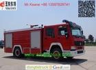 8T HOWO water tanker/foam fire truck for sale,Japanese fire trucks,fire trucks manufacturers cell+86 13597828741