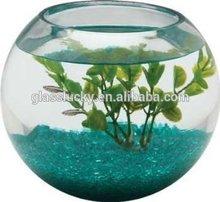 Clear glass aquarium fish tanks round glass as decoration