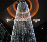 Customized optic fiber curtain light Decoration , Curtain Lighting PMMA optic fiber curtain light