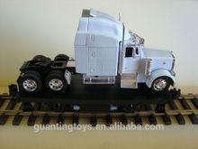 OEM Track Cleaner Flatcar & Custom Die Cast White Truck