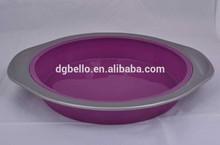 microwave silicone baking product round shape cake mold non stick silicone cake tray