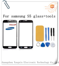 China TX touch screen digitizer front glass lens for samsung galaxy s5 i9600