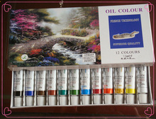 nude black art oil paintings, 12ml 12colors fast dry oil painting, brighted colour oil color