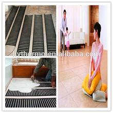 PTC self-regulating floor slab heat system