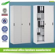 Dubai Knock down book storage steel sliding door cabinet adjustable shelf