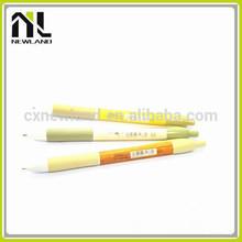 Hot deisgn cute press high quality office plastic printed short signature bulk ballpoint advertising stylish pens