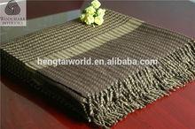 NO.1 China blanket factory China supplier home use travel set luxury tartan wool throw blanket