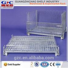 folding warehouse storage steel cage