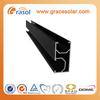 Black Aluminum Solar Rails, Clamps, Stainless steel hooks ,tin roof hooks