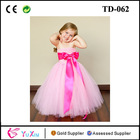 Pink party frocks for girls with Liner and Customizable Hot Pink Sash flower girl dress