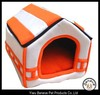 orange zippered dog house cotton pet bed