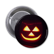 halloween pumpkin flashing button pin badge