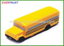 custom stress toys anti stress toys school bus shape stress ball