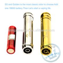 Good brand from Kingzone Golden tesla M2, E cig mods tesla, electronic smoking tesla mechanical mod m2