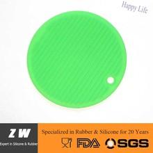 ZW FDA LFGB Round Heat Resistant Silicone Coaster